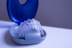 Invisalign aligner cleaning and care
