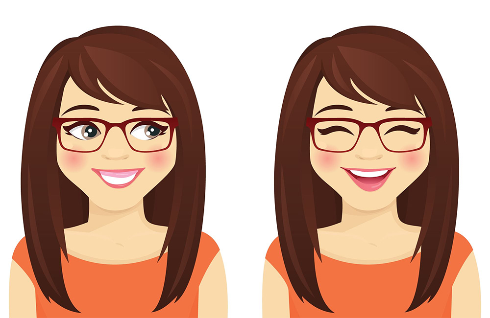 Cartoon of a woman with a gummy smile